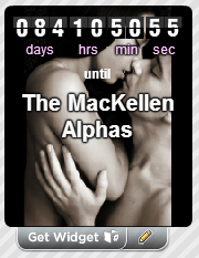 Countdown widget for a book